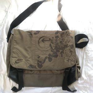 Nike messenger crossbody satchel, brown, g…